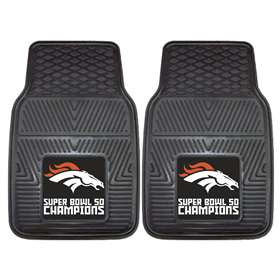NFL - Denver Broncos Super Bowl 50 Champions  2-pc Heavy Duty Vinyl Car Mat Set