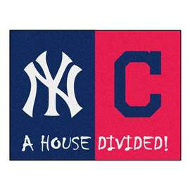 "MLB - Yankees - Indians House Divided Rug 33.75""x42.5""  House Divided Mat"