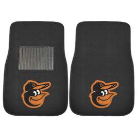 "MLB - Baltimore Orioles 2-pc Embroidered Car Mats 18""x27""  2-pc Embroidered Car Mat Set"