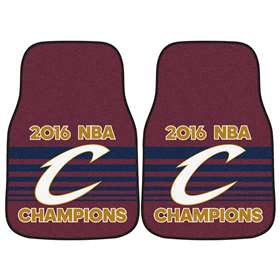 "Cleveland Cavaliers 2016 NBA Finals Champions 2-piece Carpeted Cat Mats 17""x27"""