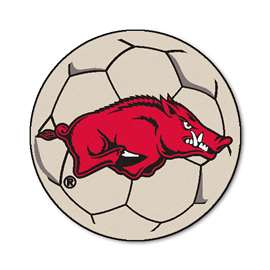 University of Arkansas  Soccer Ball Mat, Rug , Carpet