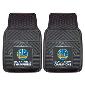 "Golden State Warriors 2017 NBA Finals Champions Heavy Duty 2-Piece Vinyl Car Mats 17""x27"""