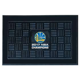 "Golden State Warriors 2017 NBA Finals Champions Medallion Door Mat 19""x30"""