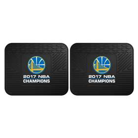 "Golden State Warriors 2017 NBA Finals Champions 2 Utility Mats 14""x18"""