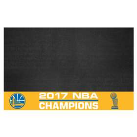 "Golden State Warriors 2017 NBA Finals Champions Grill Mat 26""x42"""