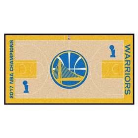 "Golden State Warriors 2017 NBA Finals Champions Court Runner 30""x72"""