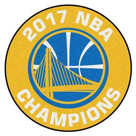 "Golden State Warriors 2017 NBA Finals Champions Basketball Rug 27"" Diameter"