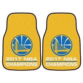 "Golden State Warriors 2017 NBA Finals Champions 2-piece Carpeted Cat Mats 17""x27"""
