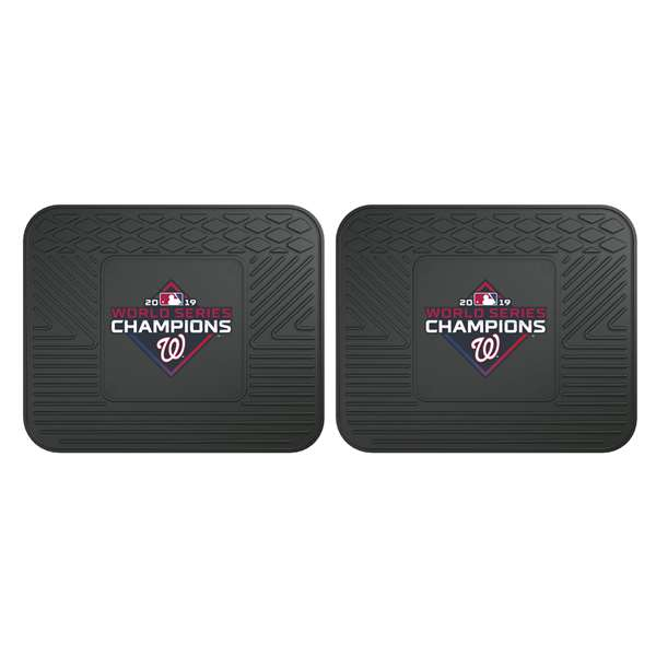 Washington Nationals  2019 World Series Champions 2 Utility Mats Rear Car Mats