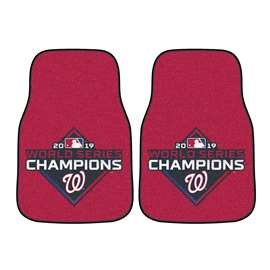 Washington Nationals  2019 World Series Champions 2-pc Carpet Car Mat Set Front Car Mats