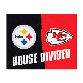 NFL House Divided - Steelers /Chiefs House Divided Mat Rectangular Mats