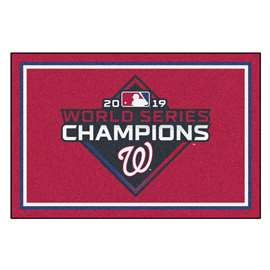 Washington Nationals  2019 World Series Champions 5x8 Rug Plush Rugs