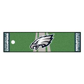 "Philadelphia Eagles Super Bowl LII 52 Champions Starter Putting Green Mat 30""x72"""