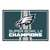 Philadelphia Eagles Super Bowl LII 52 Champions Area Rug 5'x8'