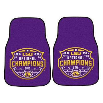 "Louisiana State University LSU Tigers 2-pc Carpet Car Mat Set 17""x27"""
