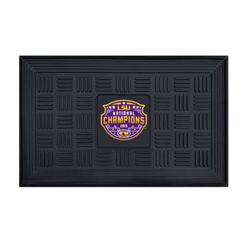 "Louisiana State University LSU Tigers Medallion Door Mat 19.5""x31.25"""
