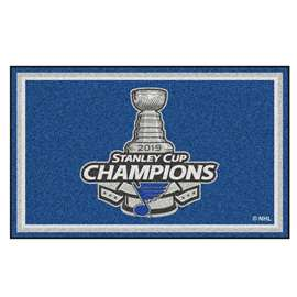 St. Louis Blues 2019 NHL Stanley Cup Champions 5x8 Rug