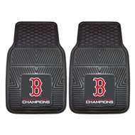 "Boston Red Sox 2018 World Series Champions Heavy Duty 2-Piece Vinyl Car Mats 18""x27"" 2-pc Vinyl Car Mat Set"