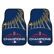 "Boston Red Sox 2018 World Series Champions 2-piece Carpeted Cat Mats 18""x27"" 2-pc Carpet Car Mat Set"