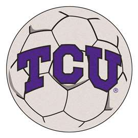 Texas Christian University  Soccer Ball Mat, Rug , Carpet