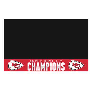 "Kansas City Chiefs Super Bowl LIV 54 Champions Grill Mat 26""x42"""