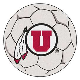 University of Utah  Soccer Ball Mat, Rug , Carpet