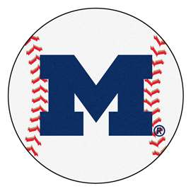 University of Michigan  Baseball Mat Rug Carpet Mats