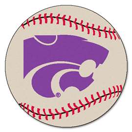 Kansas State University  Baseball Mat Rug Carpet Mats