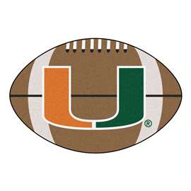 University of Miami  Football Mat Mat Rug Carpet
