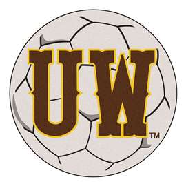 University of Wyoming  Soccer Ball Mat, Rug , Carpet