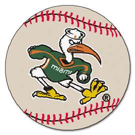 University of Miami  Baseball Mat Rug Carpet Mats