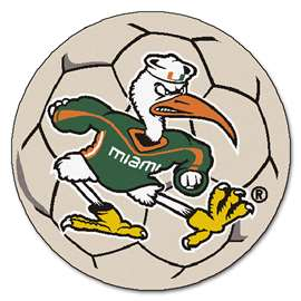 University of Miami  Soccer Ball Mat, Rug , Carpet