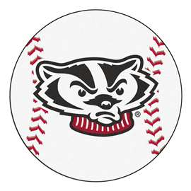 University of Wisconsin  Baseball Mat Rug Carpet Mats
