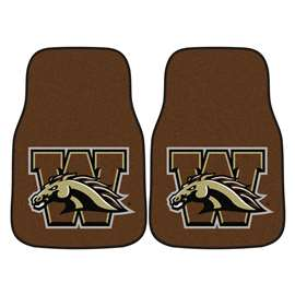 Western Michigan University  2-pc Carpet Car Mat Set