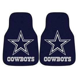 NFL - Dallas Cowboys 2-pc Carpet Car Mat Set Front Car Mats
