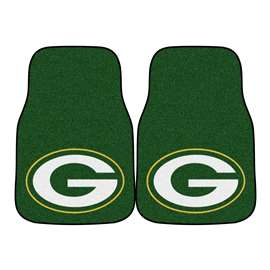 NFL - Green Bay Packers 2-pc Carpet Car Mat Set Front Car Mats