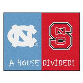 House Divided: North Carolina - North Carolina State  House Divided Mat Rug, Carpet, Mats