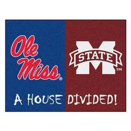 House Divided: University of Mississippi / Mississippi State  House Divided Mat Rug, Carpet, Mats