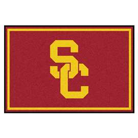 University of Southern California 5x8 Rug Plush Rugs