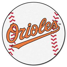"MLB - Baltimore Orioles Baseball Mat 27"" diameter   Baseball Mat"