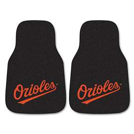 "MLB - Baltimore Orioles 2-pc Carpeted Car Mats 17""x27""  2-pc Carpet Car Mat Set"