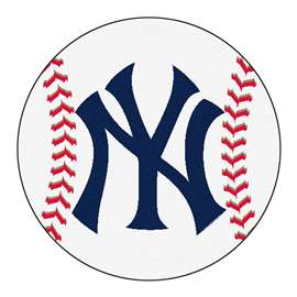 "MLB - New York Yankees Baseball Mat 27"" diameter   Baseball Mat"