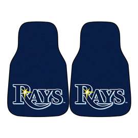 MLB - Tampa Bay Rays 2-pc Carpet Car Mat Set Front Car Mats