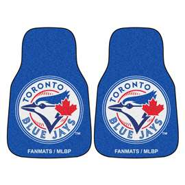 "MLB - Toronto Blue Jays 2-pc Carpeted Car Mats 17""x27""  2-pc Carpet Car Mat Set"