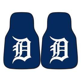 "MLB - Detroit Tigers 2-pc Carpeted Car Mats 17""x27""  2-pc Carpet Car Mat Set"