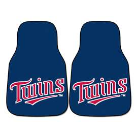 "MLB - Minnesota Twins 2-pc Carpeted Car Mats 17""x27""  2-pc Carpet Car Mat Set"