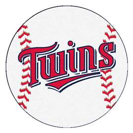 "MLB - Minnesota Twins Baseball Mat 27"" diameter   Baseball Mat"