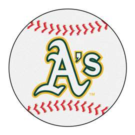 "MLB - Oakland Athletics Baseball Mat 27"" diameter   Baseball Mat"
