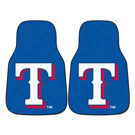 "MLB - Texas Rangers 2-pc Carpeted Car Mats 17""x27""  2-pc Carpet Car Mat Set"
