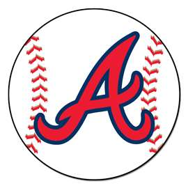 "MLB - Atlanta Braves Baseball Mat 27"" diameter   Baseball Mat"